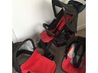 Hauk travel system pushchair, carry cot & car seat