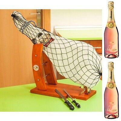4,0 KG Original Jamon Serrano Schinken AUS DER SCHULTER + 2 Flaschen Sekt Mosel