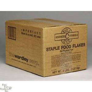 Wardley Staple Flakes Tropical Fish Food 5 Lb Box