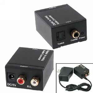 Digital Coaxial or Toslink to 2-RCA Analog L-R Audio Converter