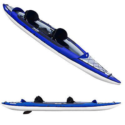 Aquaglide New Columbia XP Tandem XL Inflatable Kayak-Blue/Wh