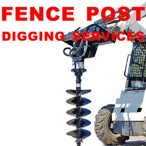 FENCE POST HOLE DIGGING SERVICE