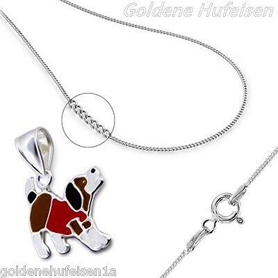 Kinder Hund ANHÄNGER mit KETTE  925 Echt Silber Geschenkidee / z-405