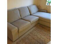 IKEA kivic 2 seat and chaise langue sofa