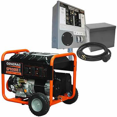 Generac GP6500E - 6500 Watt Electric Start Portable Generator w/ Power Transf... (Generac 5941)