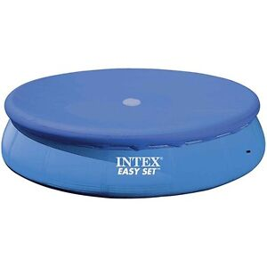 Intex easy set swimming pool cover durable round for 10 12 for 12 ft garden pool