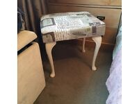 Gorgeous recently recovered shabby chic dressing table stool