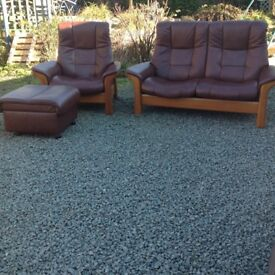 Superb stressless sofa chair and ottoman footstool