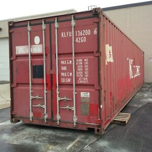 Sea containers. Storage. 20-40ft high and low and even 45s