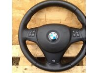 BMW 1 OR 3 SERIES E8X E9X M SPORT STEERING WHEEL AND AIRBAG