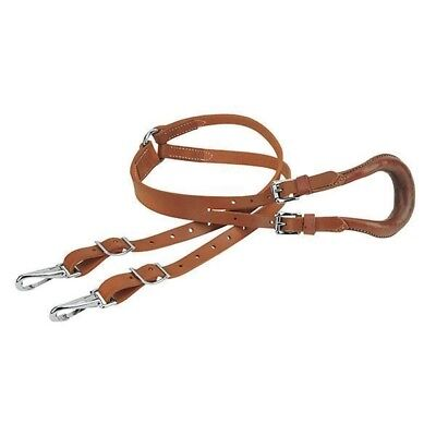 Weaver Leather Two Strap Russet Leather Crupper Attaches to Saddle Dees ()