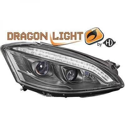 Scheinwerfer Set für Mercedes S-Klasse  W221 06-09 LED Klarglas/Schwarz