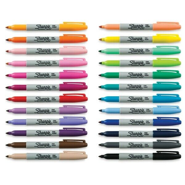 Brush Tip Assorted 12 Pack Sharpie 1810704 Permanent Markers