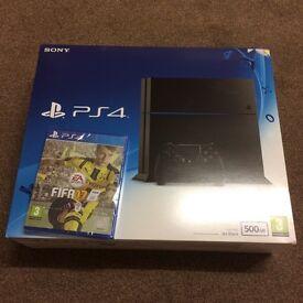 BRAND NEW PS4 Jet Black 500GB + FIFA 17