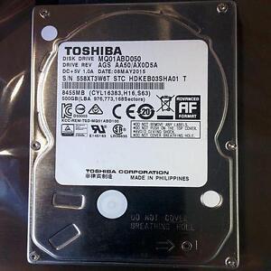 """Refurbished Toshiba MQ01ABF050 500GB Laptop Hard Drive 2.5"""" HDD (Low Profile)"""