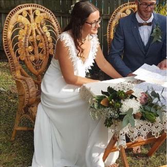 Antique Peacock Wedding Chair Hire - $150