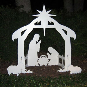 O Holy Night Outdoor Christmas Nativity Set