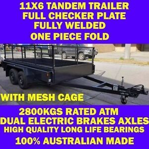 11x6 TANDEM TRAILER W CAGE 2.8T FULLY WELD FUL CKER PLT 10x6 12x6 Clayton Monash Area Preview