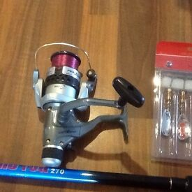 Brand new spinning rod and reel