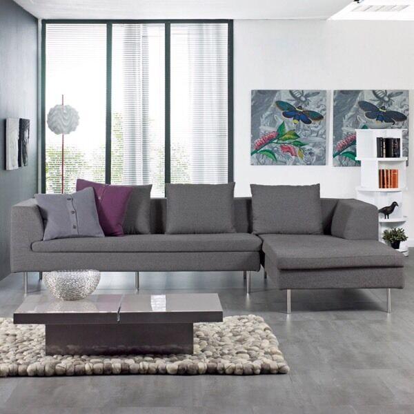 Dwell Laguna Corner Sofa Grey Less Than 1yr Old