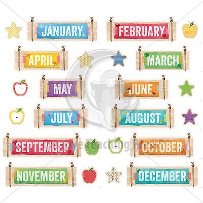 CTP 1173 Upcycle Style Months of the Year Headers CLASSROOM DECORATIONS NEW