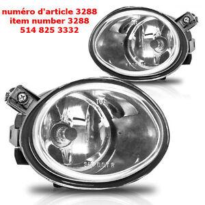 Pair Fog Lights Fit 01-05 BMW E46 3 Seires -Clear Lens