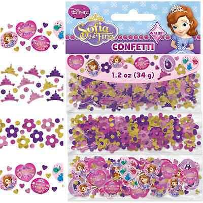 NEW Disney Sofia the First Confetti 1.2oz. (Each) Kids Birthday Party - Sofia First Party Supplies
