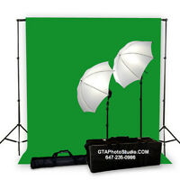 Photo Video Flash LED Fluorescent Lighting Muslin Backdrop Stand