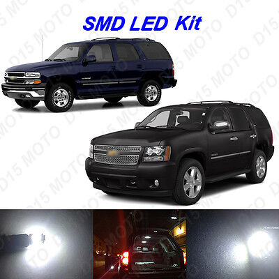 16x White LED interior Bulbs Kit+ Tag Lights For 2000-2014 Chevy Tahoe Suburban