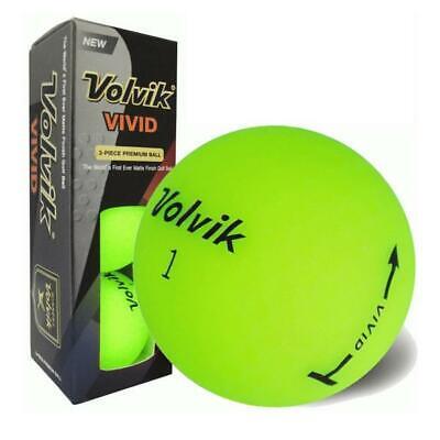 Volvik Leuchtend Golf Bälle X Ärmel von 3 (Neon Grün)