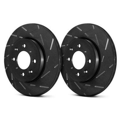 For BMW 850Ci 95-99 Brake Rotors EBC USR BlackDash Series Sport Slotted 1-Piece
