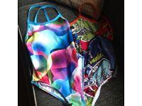 2 swimming costumes racing backs