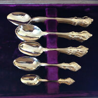 ROGERS BROS. MODEL 184 GOLD ORLEANS CUTLERY SET
