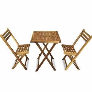 Luxo Aruba 3 Piece Acacia Timber Outdoor Bistro Set Seven Hills Blacktown Area Preview