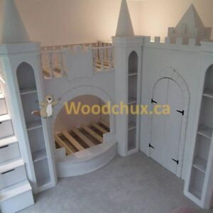 ENCHANTED CASTLE Bunk Beds w/ Walk-In Closet .. ♥‿♥