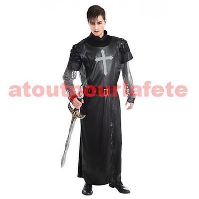 Déguisement de  Chevalier croisé noir (2 - Kostüm De Chevalier