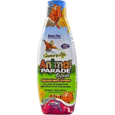 Nature's Plus, Animal Parade Liquid Children's Multi-Vitamin Tropical Berry
