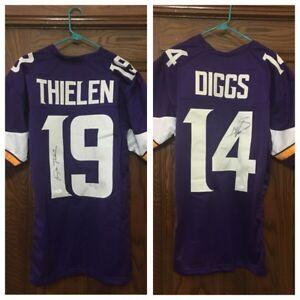 Autographed Adam Thielen & Stefon Diggs jerseys!