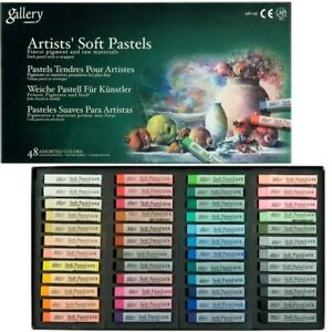 Mungyo Gallery Artists Soft Pastel Squares Cardboard Box Set 48 Assorted Colors