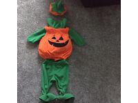 Halloween pumpkin costume (age 12 months)