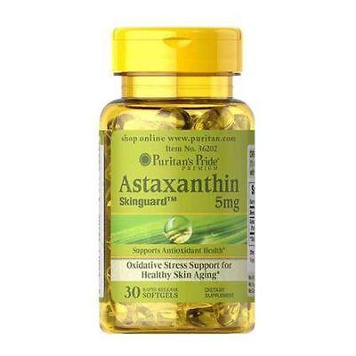 Astaxanthin 5 mg Puritans Pride 30 Softgels 86,62 € / 100 g - 30 Mg 30 Softgels