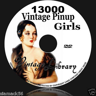Vintage Erotic Art Pinup Artists girls photo print 13,000 on DVD image