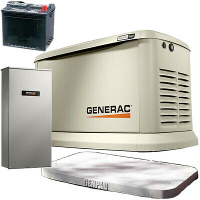 Generac Guardianreg 22kw Standby Generator System 200a Service Disconnect ...