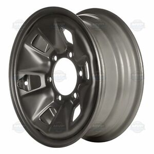 "Single Black 15"" OEM Toyota Steel Rim."
