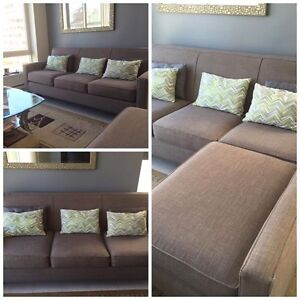Beautiful grey couch with versatile sectional