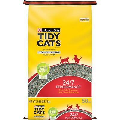 Purina Tidy Cats Non Clumping Cat Litter Odor Control Multi Cat Litter, 50 lbs Multi Cat Litter