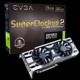 EVGA GeForce GTX 1070 SC2 GAMING, 8GB GDDR5, iCX - 9 Thermal Sensors