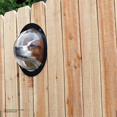 Petpeek Dog Port Hole Window For Your Fence Pet Peek  Look Out Porthole New