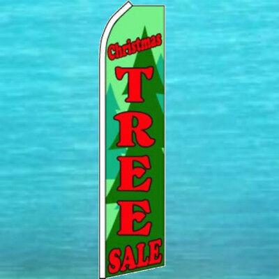 Christmas Tree Sale Super Flag Advertising Sign Flutter Feather Swooper Banner