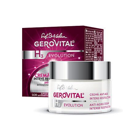 Crema antiage ristrutturante intensiva intensive care Gerovital H3 Evolution 45+